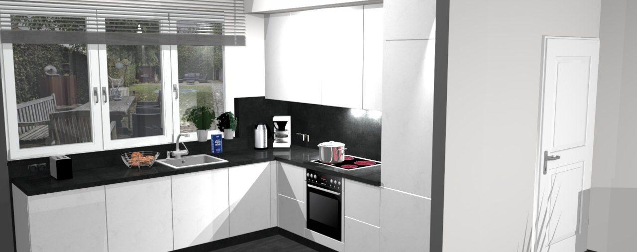 Nieuwe keuken in nieuwbouw, Horn