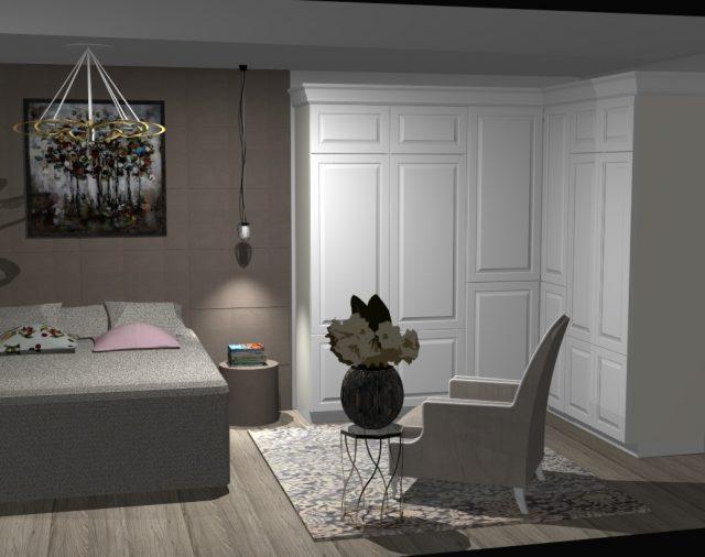Luxe slaapkamer ontwerp, Switzerland Geneva
