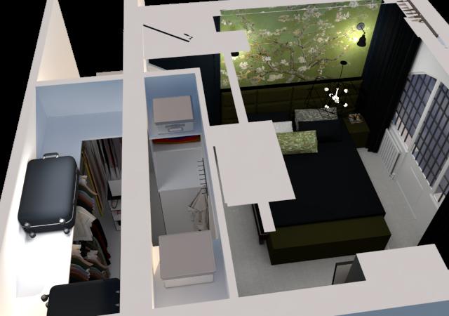 Slaapkamer met inloopkast ontwerp, Weert