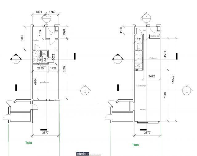 Uitbouw begane grond, 2D/3D ontwerp en keuken op maat, Valkenswaard